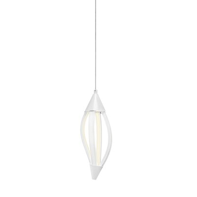 Sophie 1-Light Mini Pendant Finish: White
