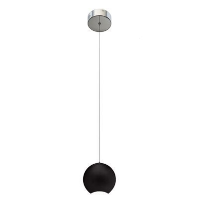 Minn? 1-Light Mini Pendant Finish: Black, Size: 5.71 H x 5.91 W x 3.15 D