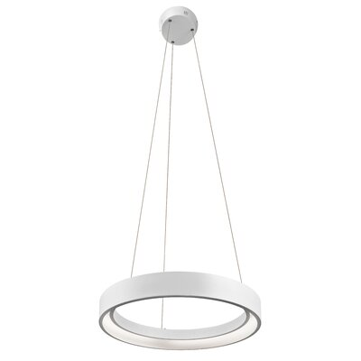 Rhianna  1-Light Geometric Pendant Finish: Sand Textured White, Size: 2.75 H x 23.5 W x 23.5 D