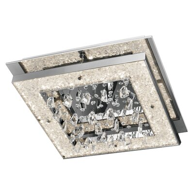 Crushed Ice? 1-Light Flush Mount Size: 7.25 H x 19.75 W x 19.75 D