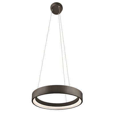 Rhianna  1-Light Geometric Pendant Finish: Sand Textured Black, Size: 2.75 H x 23.5 W x 23.5 D