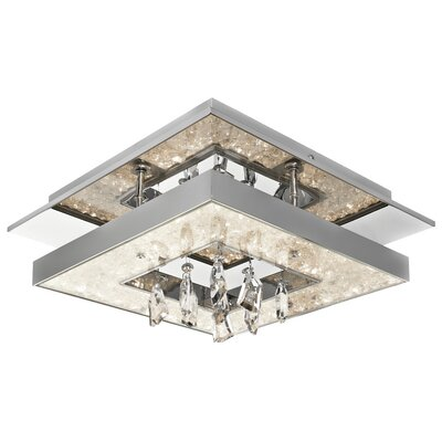 Crushed Ice? 1-Light Flush Mount Size: 6.25 H x 13.75 W x 13.75 D