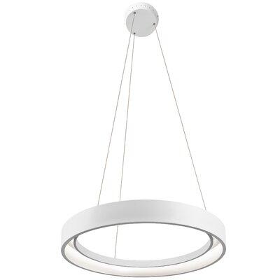 Fornello? 1-Light Geometric Pendant Size: 2.75 H x 23.5 W x 23.5 D, Finish: Sand Textured White