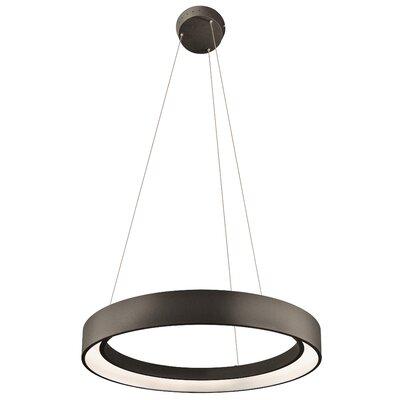 Fornello? 1-Light Geometric Pendant Finish: Sand Textured Black, Size: 2.75 H x 23.5 W x 23.5 D