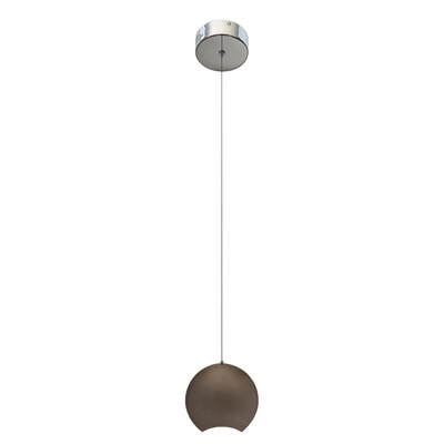 Minn? 1-Light Mini Pendant Finish: Metallic, Size: 9.53 H x 9.84 W x 4.72 D