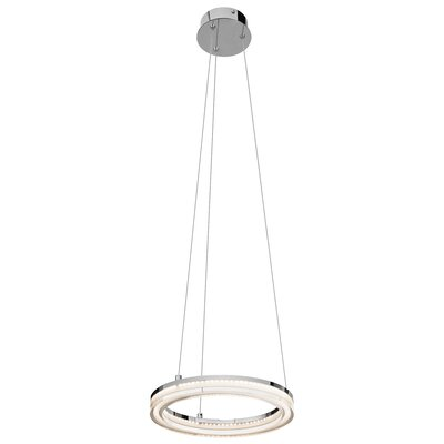 Ithican? 1-Light Geometric Pendant Size: 1.5 H x 11.75 W x 11.75 D