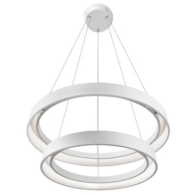 Rhianna 2-Light Geometric Pendant Finish: Sand Textured White