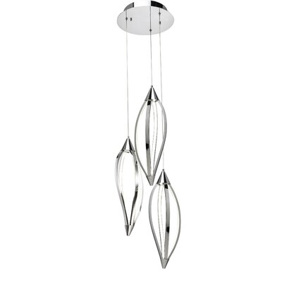 Sophie 3-Light Cascade Pendant Finish: Chrome