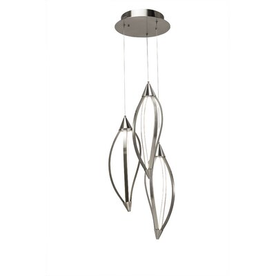 Sophie 3-Light Cascade Pendant Finish: Brushed Nickel