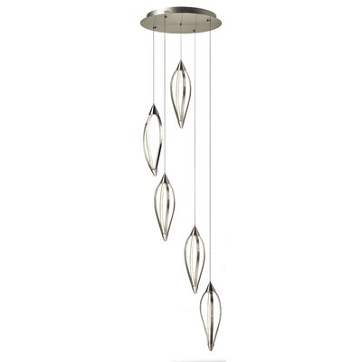 Sophie 5-Light Cascade Pendant Finish: Brushed Nickel