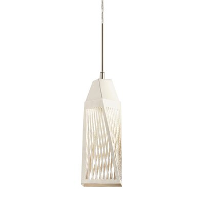 Vitalina? 1-Light Mini Pendant Finish: Brushed Nickel and Stainless Steel