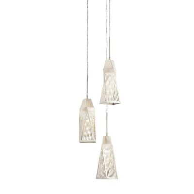Vitalina? 3-Light Cascade Pendant Finish: Brushed Nickel and Stainless Steel