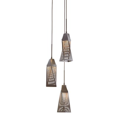 Vitalina? 3-Light Cascade Pendant Finish: Architectural Bronze
