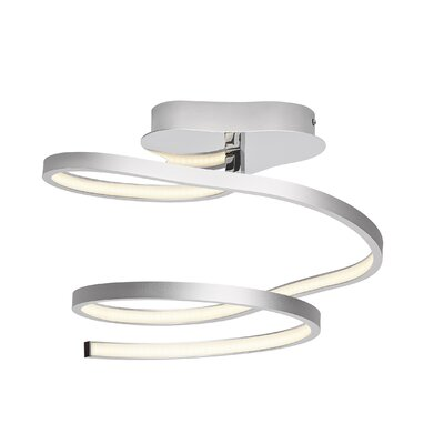 Carissa White Acrylic 1-Light  Semi Flush Mount