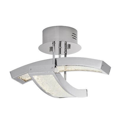 Crushed Ice? 2-Light Semi Flush Mount