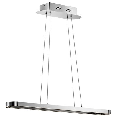Quell 1-Light Kitchen Island Pendant Size: 1.25 H x 40.25 W x 3.75 D