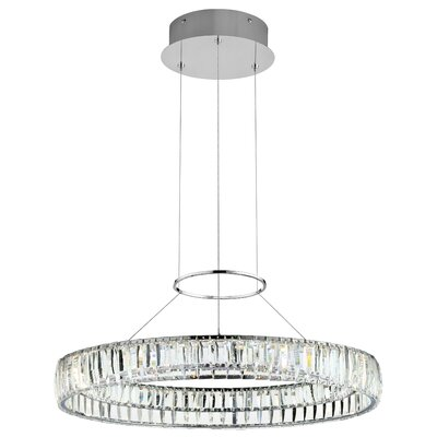 Annette 1-Light Drum Pendant Size: 109.25 H x 25.5 W x 25.5 D