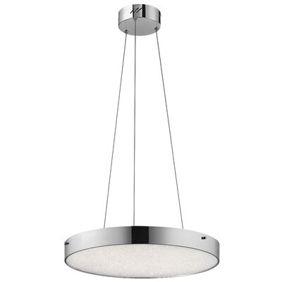 Cystal Moon 1-Light Drum Pendant Finish: Chrome