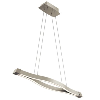 Nya 2-Light Kitchen Island Pendant Size: 2 H x 6.25 W x 39.5 D