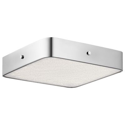 Cystal Moon 1-Light Flush Mount Finish: Brushed Nickel