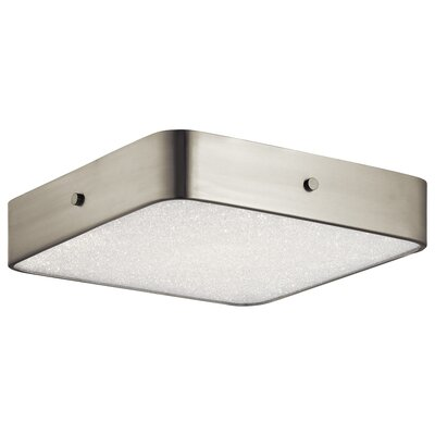 Cystal Moon 1-Light Flush Mount Finish: Chrome