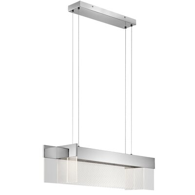 Linear 4-Light Kitchen Island Pendant Size: 9 H x 36.5 W x 11.25 D