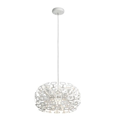 1-Light Globe Pendant Size: 11.75 H x 20 W x 20 D