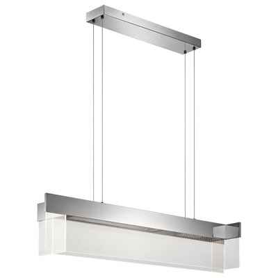 Linear 4-Light Kitchen Island Pendant Size: 9 H x 48.5 W x 11.25 D