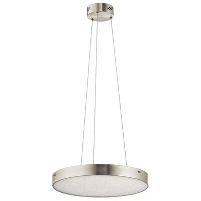 Cystal Moon 1-Light Drum Pendant Finish: Brushed Nickel