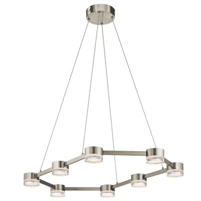 Avenza? 8-Light Geometric Pendant Finish: Brushed Nickel