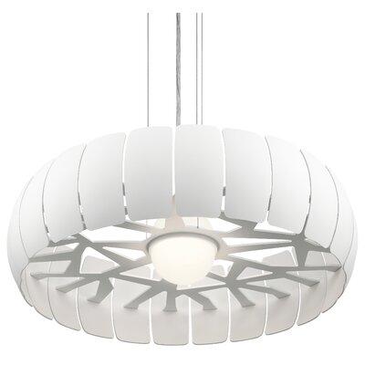 1-Light Drum Pendant Size: 6.75 H x 25 W x 25 D