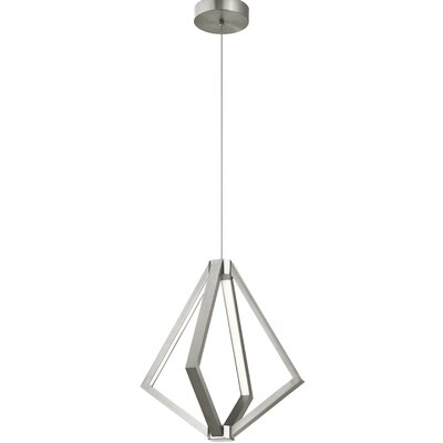 Everest 6-Light Geometric Pendant Finish: Satin Nickel