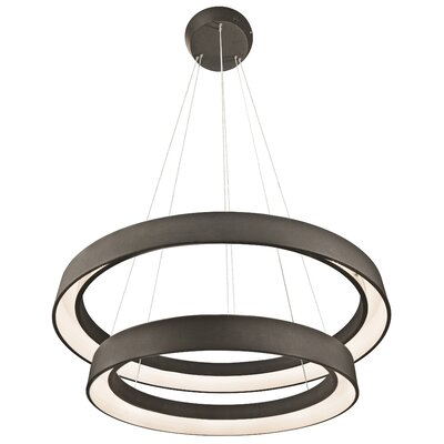 Rhianna 2-Light Geometric Pendant Finish: Sand Textured Black
