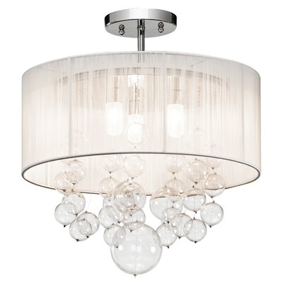 Laila 3-Light Semi-Flush Mount