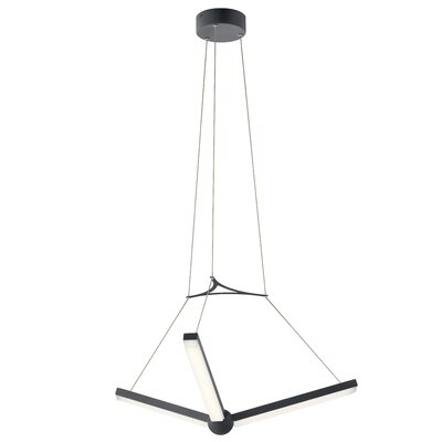 Rubino 3-Light LED Geometric Pendant Finish: Charcoal