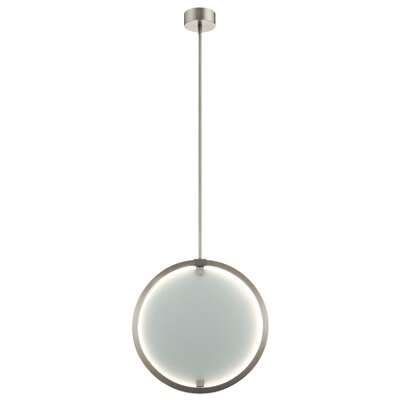 Rucker 1-Light LED Globe Pendant Finish: Brushed Nickel, Shade Color: Clear White