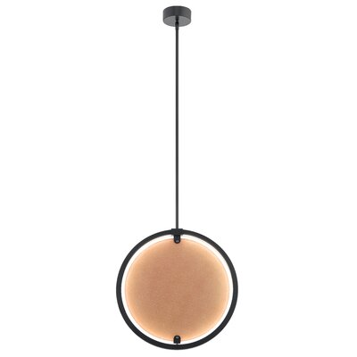 Rucker 1-Light LED Globe Pendant Finish: Bronze, Shade Color: Amber
