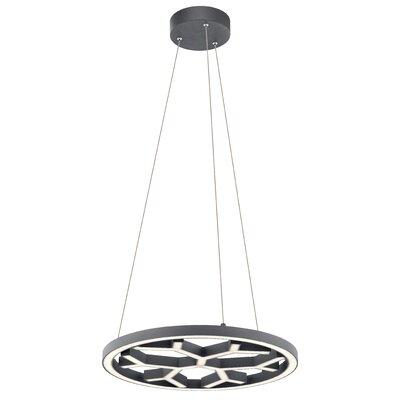Ruckman LED Geometric Pendant Finish: Charcoal