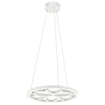 Ruckman LED Geometric Pendant Finish: Textured White
