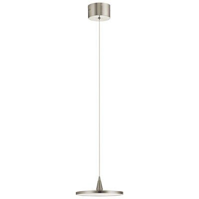 Antigone 1-Light LED Mini Pendant Finish: Brushed Nickel