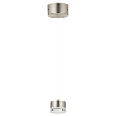 Royer 1-Light LED Mini Pendant Finish: Brushed Nickel