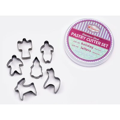 6 Piece Holiday Cookie Cutter Set