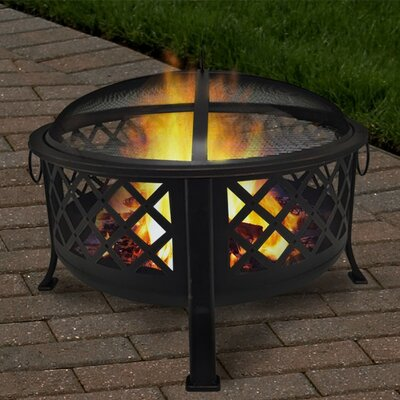 Lattice Steel Fire Pit