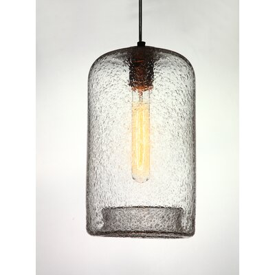 Vintage 1-Light Pendant Shade Color: Clear