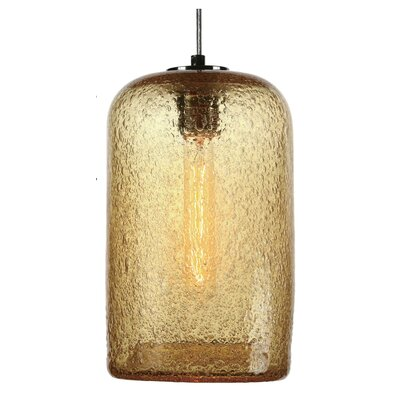Vintage 1-Light Pendant Shade Color: Amber