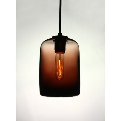 Vintage 1-Light Mini Pendant Shade Color: Chocolate