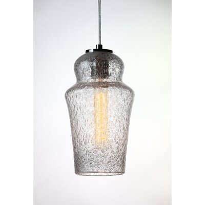 Vintage 1-Light Mini Pendant Shade Color: Clear