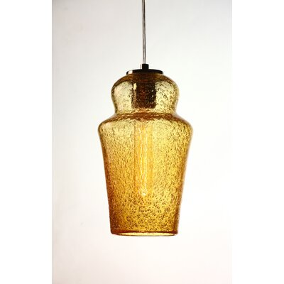 Vintage 1-Light Mini Pendant Shade Color: Amber