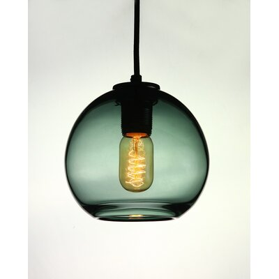 Vintage 1-Light Globe Pendant Shade Color: Gray