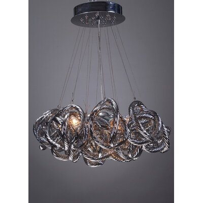 Infinity 5-Light Cluster Pendant Shade Color: Metallic Silver